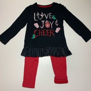 Gymboree Love Joy And Cheer Holiday Outfit 3T